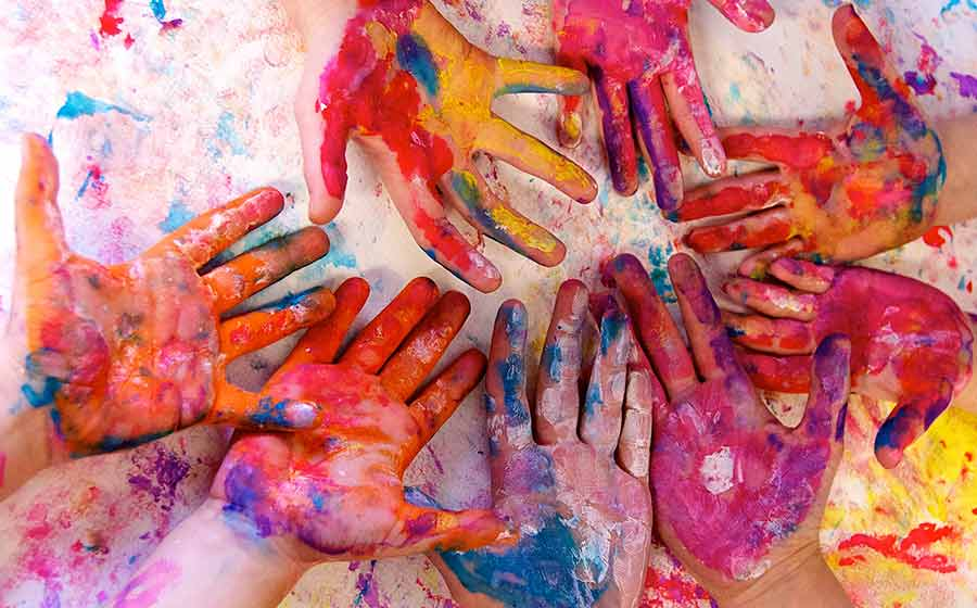 As crianças e a arte